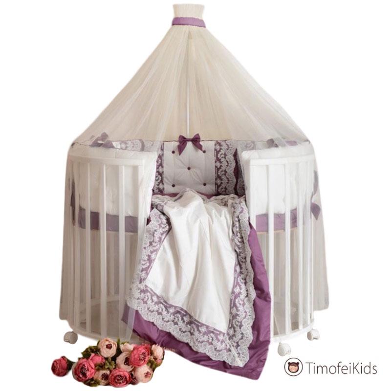 Набор в кроватку Блюмарин фиолетовый