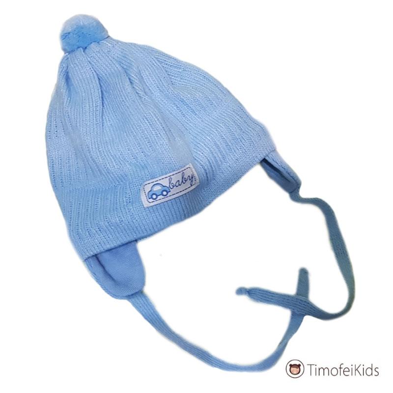 Весенняя шапочка с завязками