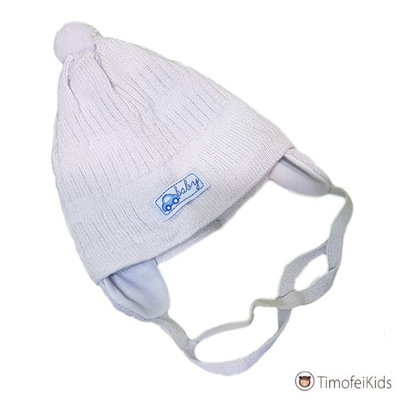 Весенняя шапочка для новорожденного