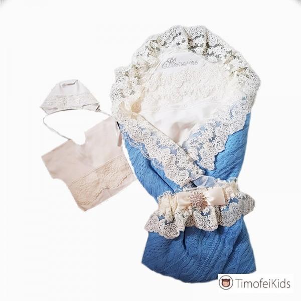 Конверт – плед на выписку из роддома для новорожденного